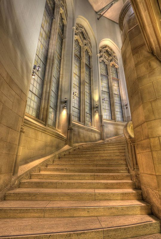 Grand Staircase Suzzallo Library Art Print by Barb