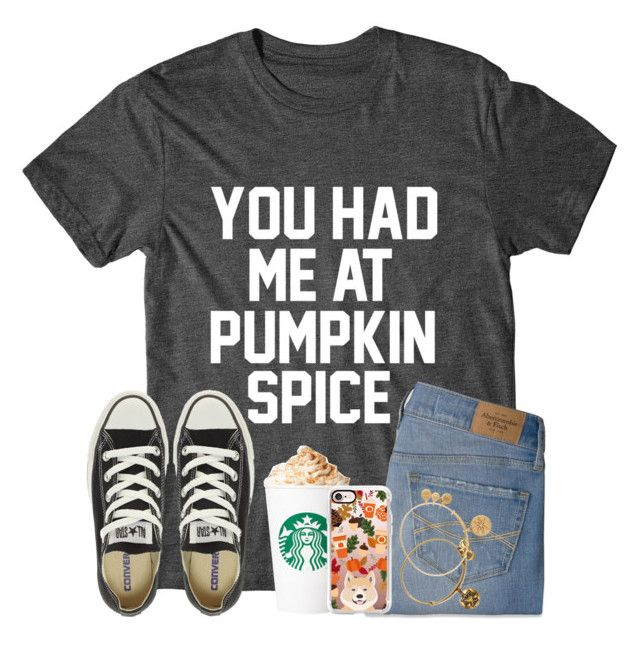 """""""TBH...I've Never Had A Pumpkin Spice Latte..."""" by twaayy ❤ liked on Polyvore featuring Abercrombie & Fitch, Converse, Alex and Ani and Casetify"""