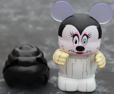 "Disney Vinylmation Spooky Series 1 Set Mickey & Minnie Frankenstein 3"" Figures"
