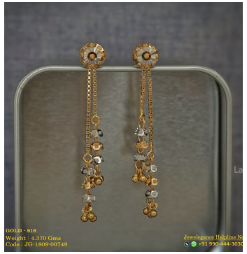 Daily Wear Light Weight Earring Designs Earrings Gold Indian Simple Daily Wear In 2020 Gold Earrings Designs Gold Bangles Design Jewelry Design Earrings