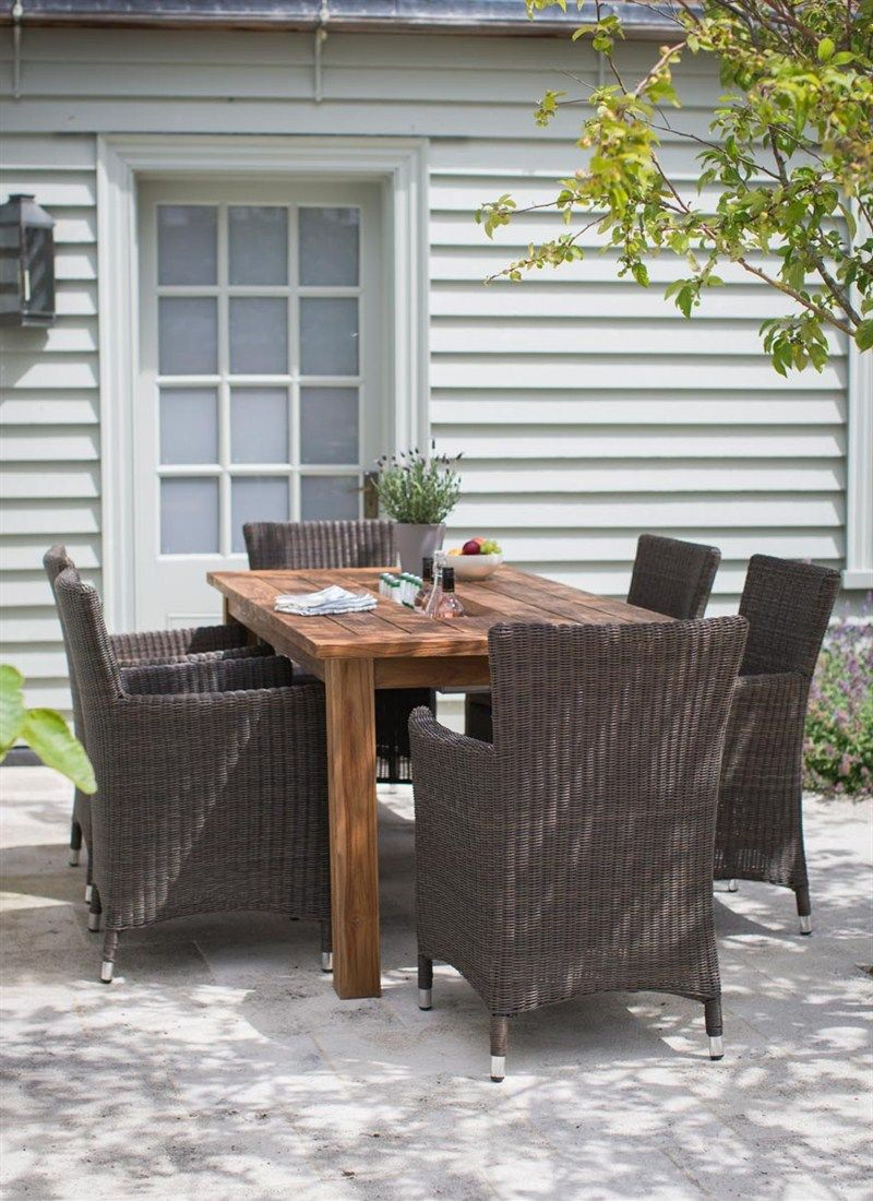 Garden tables gt square 3ft outdoor coffee table teak - St Mawes Garden Table In Reclaimed Teak The Table Seat Between 4 8 Comfortably In The Centre Of The Table A Section Of The Reclaimed Wood Lifts Up To