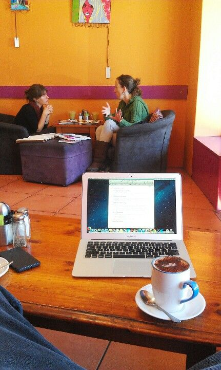 eBook writing day in our local cafe on Family Travel