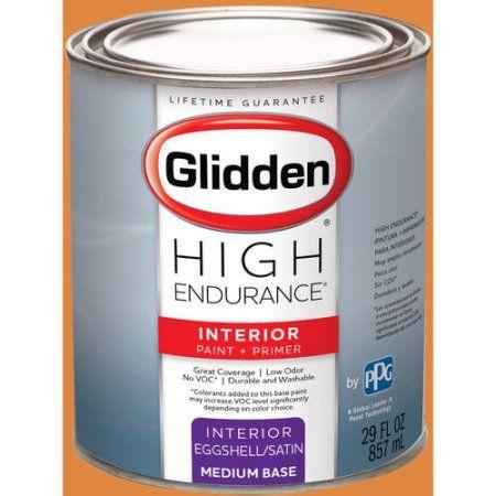 Glidden High Endurance Interior Paint And Primer Desert Orange 78yr 39 593 Interior Paint Glidden Egg Shells