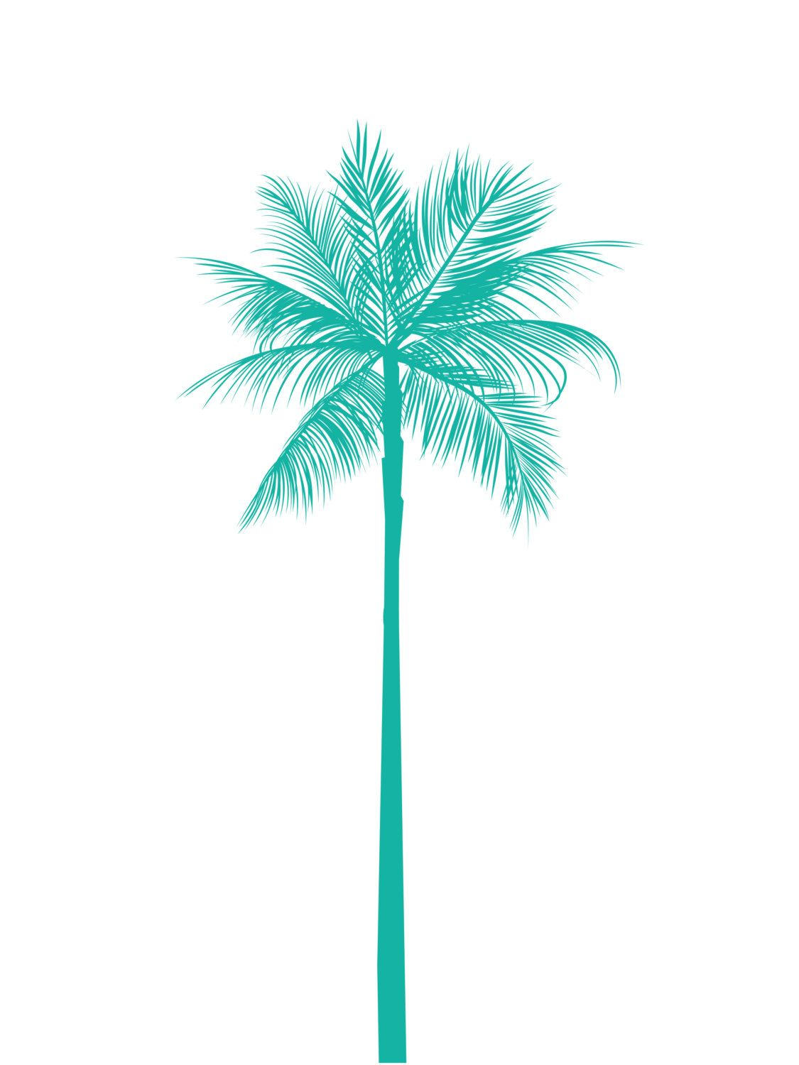 4aef22ef7 Turquoise Palm Tree Print Teal Palm Tree by MelindaWoodDesigns Future  Tattoos, New Tattoos, Cool