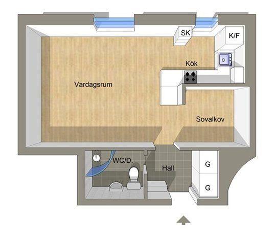 Large Studio Apartments: How A Little Swedish Apartment Lives Large