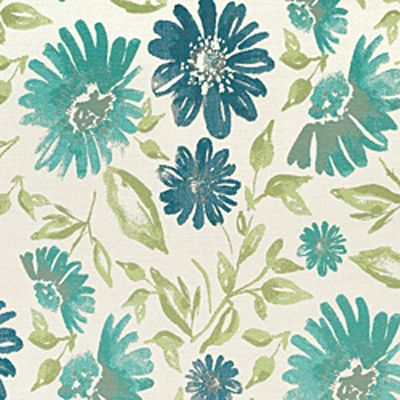 Sunbrella Blue Flowers - I love blue.