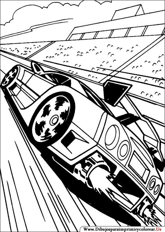 Dibujos De Hot Wheels Para Imprimir Y Colorear Race Car Coloring Pages Cars Coloring Pages Coloring Pages