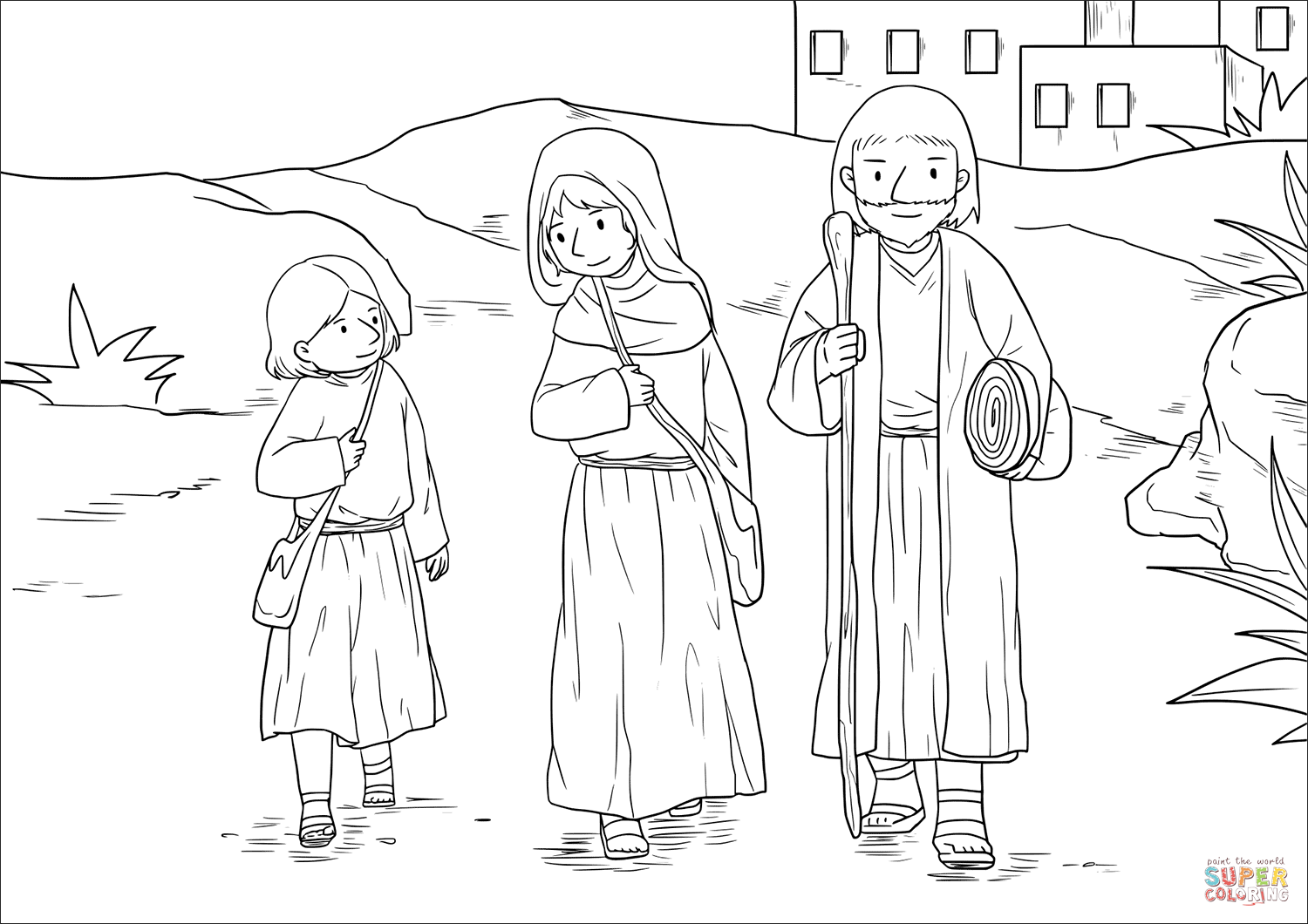 35+ Boy jesus in the temple coloring page HD