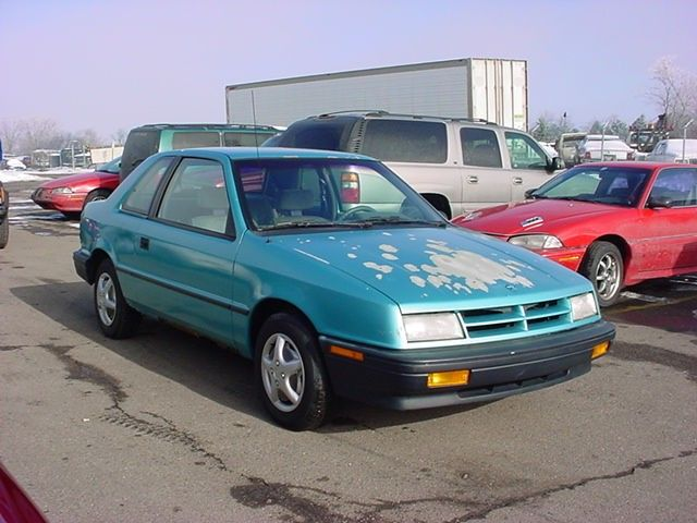 I had the misfortune of owning a 92 Dodge Shadow and the paint began
