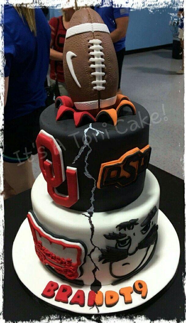 Bedlam House Divided Ou Osu Schooner Pistol Pete Football Cake