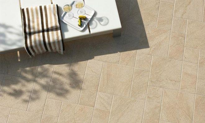 Carrelage Terrasse Stone Track Beige Materialite Sol Urbain