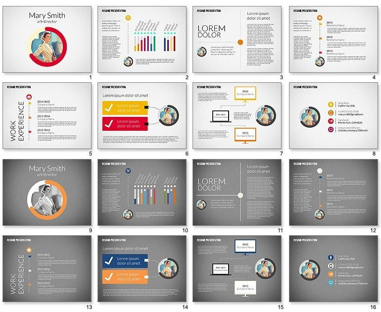 Image result for powerpoint template for resume Resume