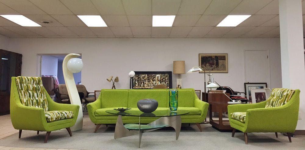 Vintage Mid Century Modern Adrian Pearsall Style Sofa U0026 Lounge/Club Chairs  Set #BassettFurniture