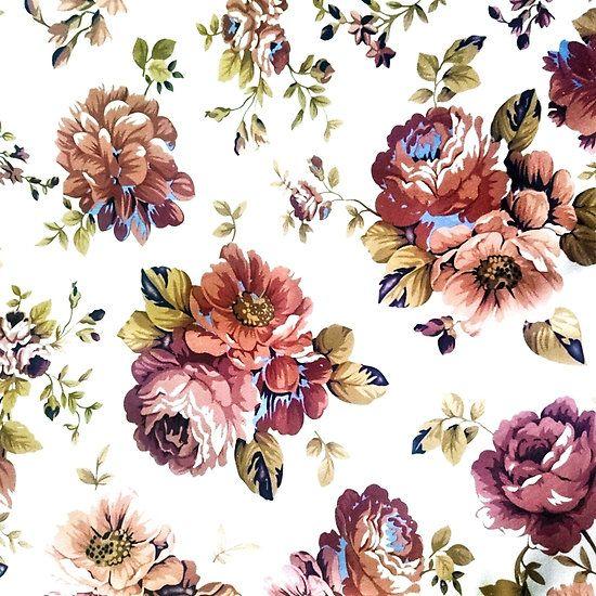 Fabric Flower Pattern Vintage Floral Pattern Floral Texture Flower Fabric Pattern