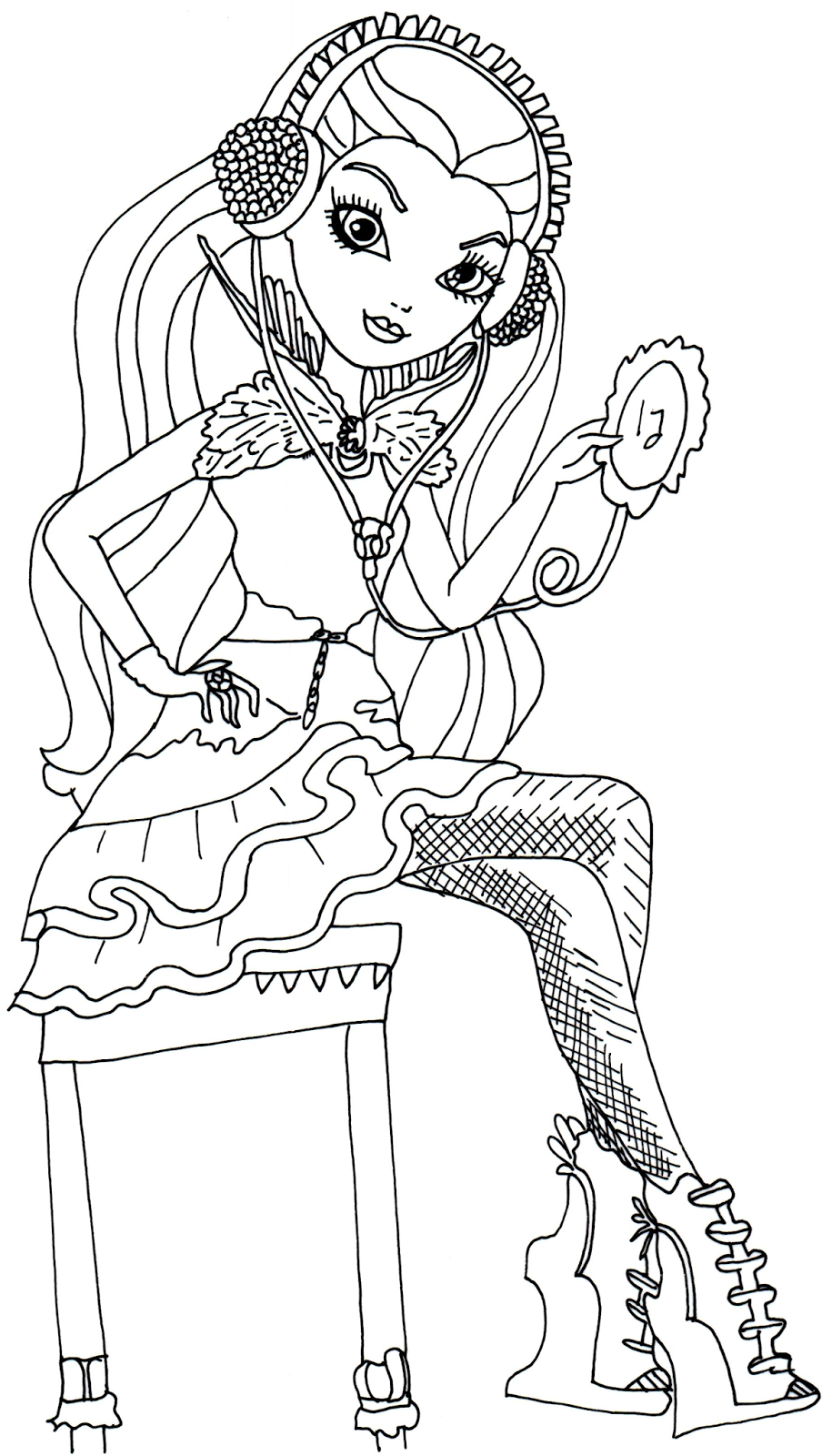 Free Printable Ever After High Coloring Pages Raven Queen Ever