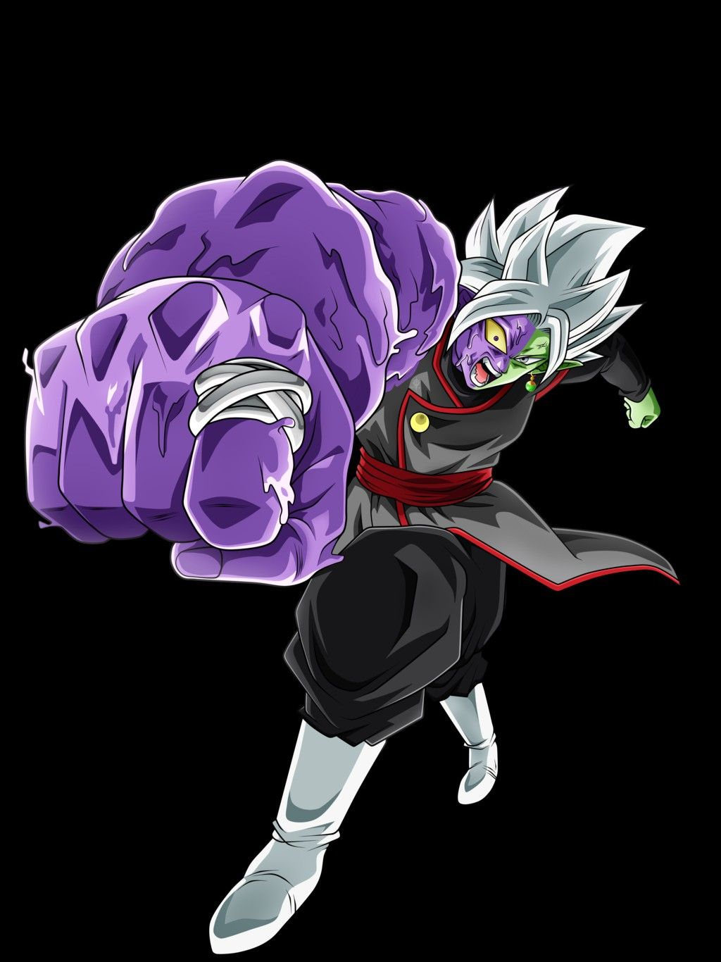 fusion zamasu half corrupted dragon ball franchsie fanart