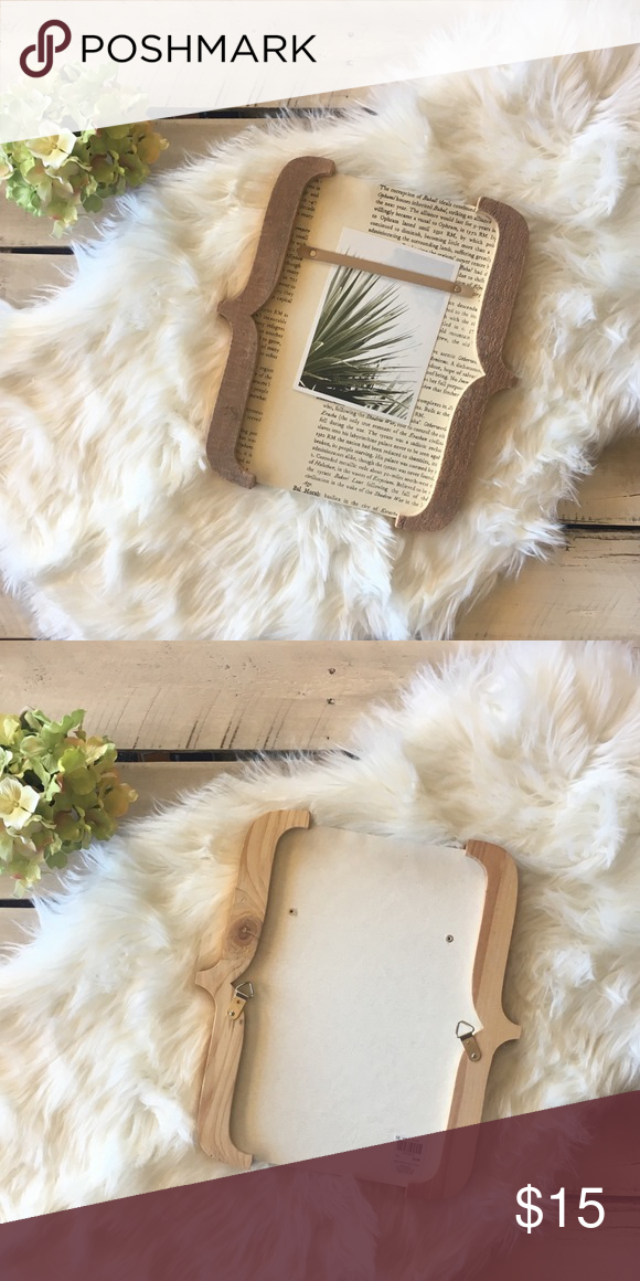 3/$20 Wall Picture Frame Display your favorite snapshots in this unique Wood Brackets Photo Frame! This wood frame features gorgeous natural tones and an artistic approach to displaying your pictures. 12.5