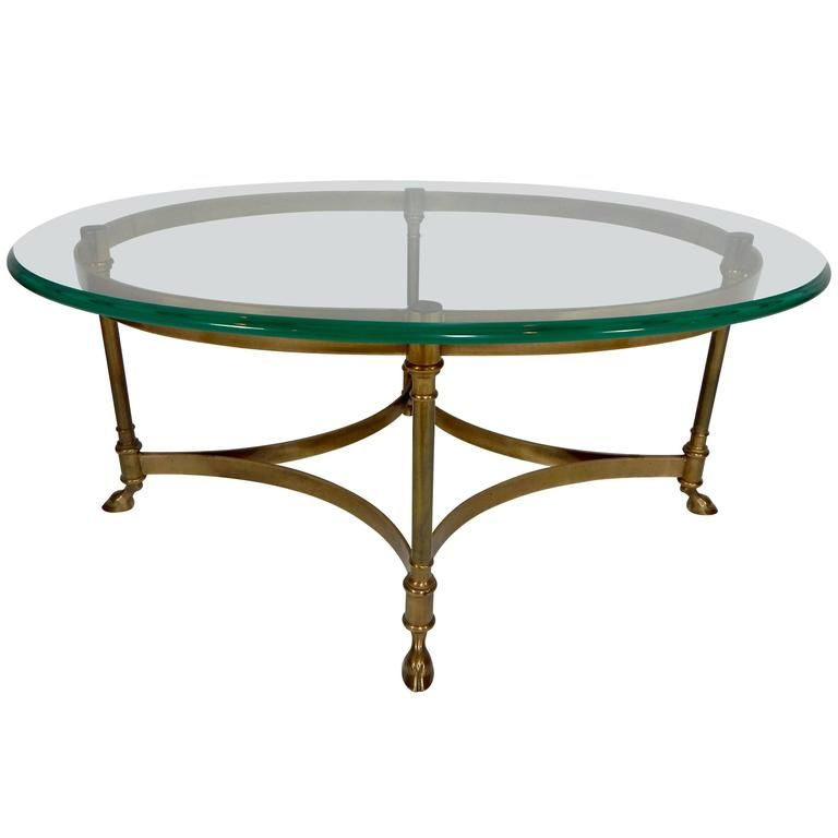 Mid Century Weiman Brass And Glass Coffee Table From A Unique Collection Of Antique And Modern Coffee And Cocktail Tabl Coffee Table Table Oval Coffee Tables