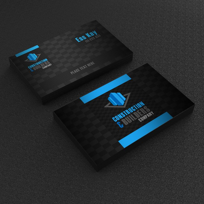 Free construction company business card template design reklama read it fbccfo Images