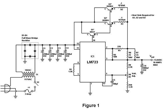 Build A 10 Amp 13 8 Volt Power Supply  With Images