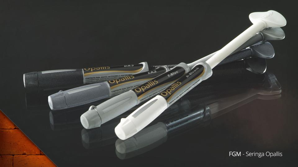 Seringa de Aplicação Opallis, da FGM: Design de Produto.