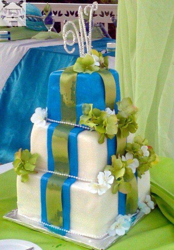 Modern Interpretation Of Peacock Themed Wedding Cake At Award Winning Montego Bay Destina Themed Wedding Cakes Feather Wedding Cake Destination Wedding Jamaica