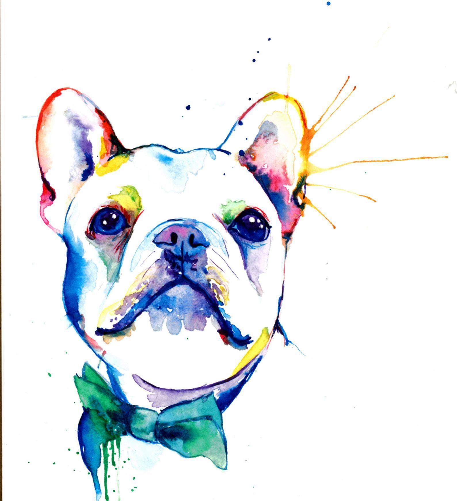Bouledogue Francais Frenchie Art Print Impression De Peinture