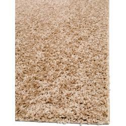 Photo of benuta Essentials Shaggy Rug Swirls Taupe 300×300 cm – Long pile rug for living room