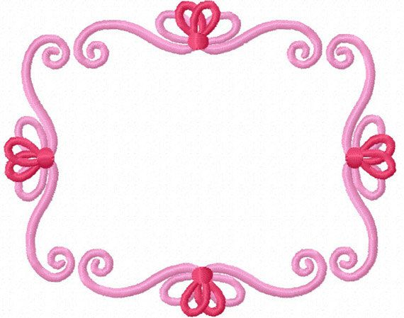 Instant Download Fancy Frame Machine Embroidery Design No1214