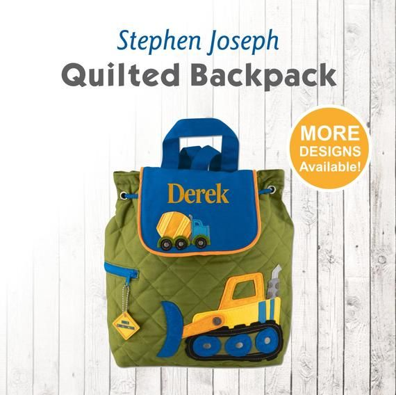 8de89b8fc77b Personalized Construction Backpack with Embroidered Name