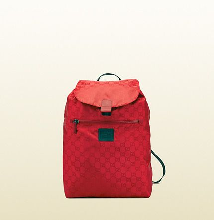 fd753e82d4a7 Gucci Gg Nylon Backpack From The Viaggio Collection