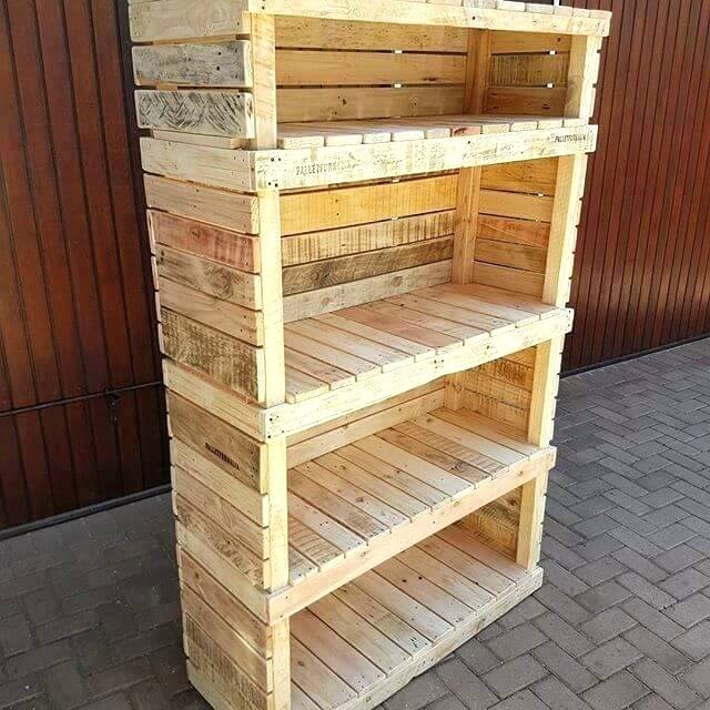 Pallet Shelves Pallet Shelves Pallet Storage Ideas Simple And