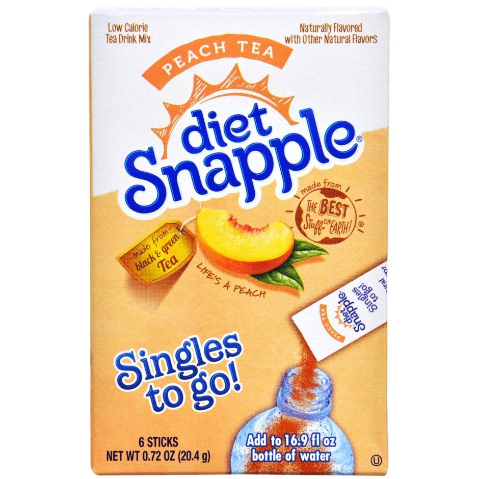 Diet Snapple Peach Tea Singles To Go 6 Ct Boxes Diet Snapple Peach Tea Peach Tea Recipe