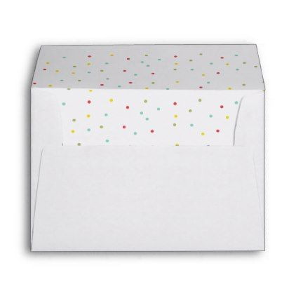 Colorful And Festive Confetti Dots Envelope  Pattern Sample
