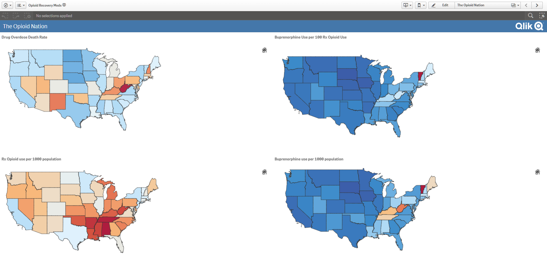 The Opioid Nation Dataviz Using Qlik Sense Visual Analytics
