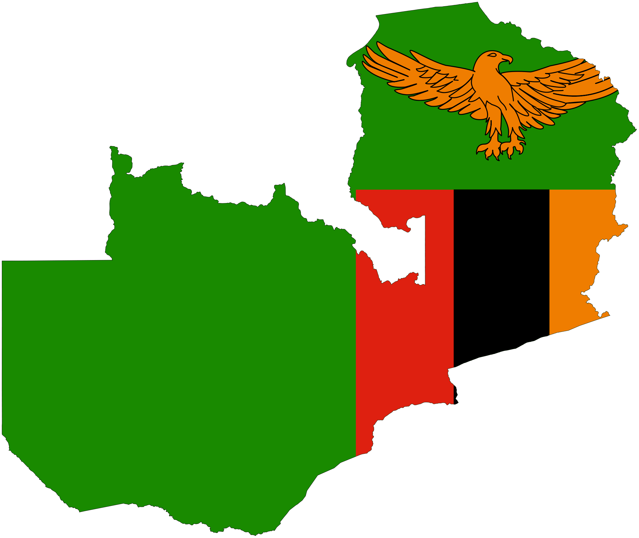 Image result for zambia flag map flag map