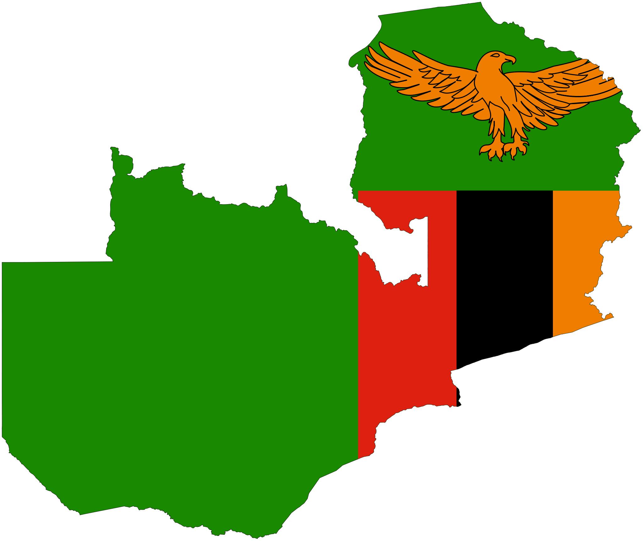 Zambia Flag Map Zambia Flag Zambian Flag Africa Map