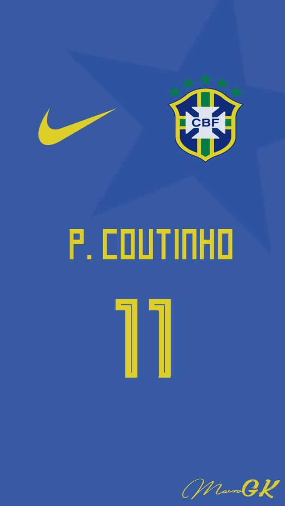 Brazil Coutinho Jersey 2018  MauroGK