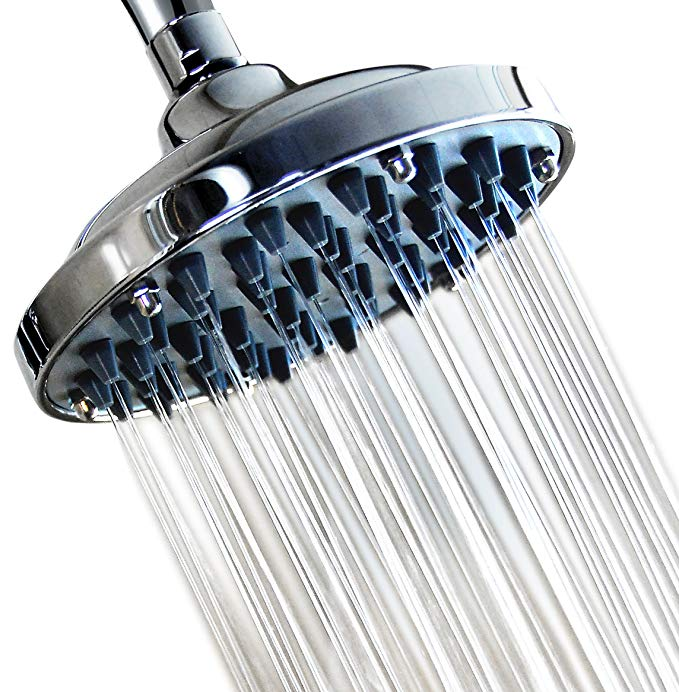6 Fixed Shower Head High Pressure Showerhead Chrome Powerful