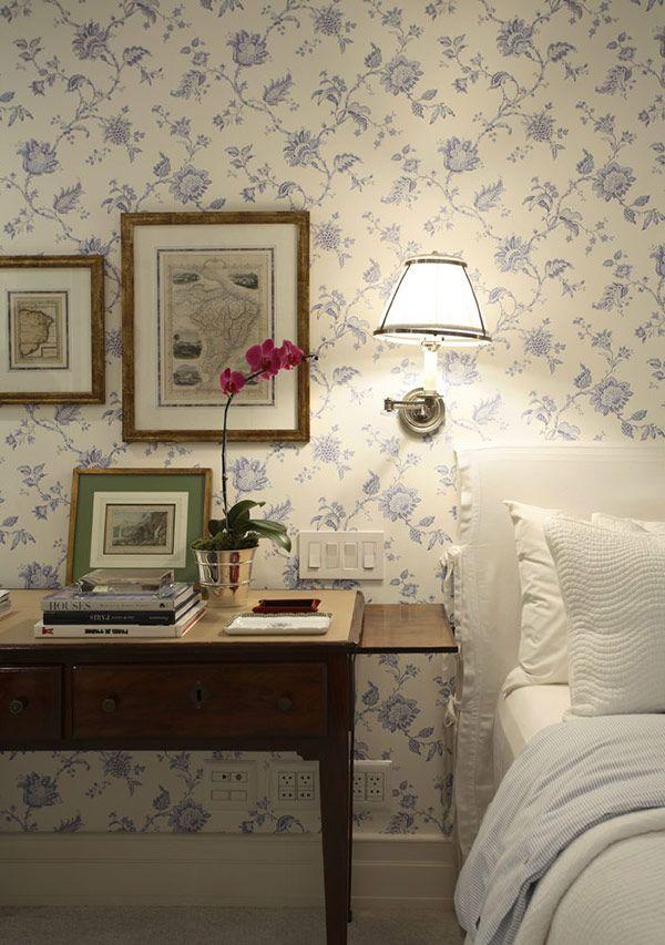 papel-de-parede-no-quarto-ourico   quarto pequeno   Pinterest ...