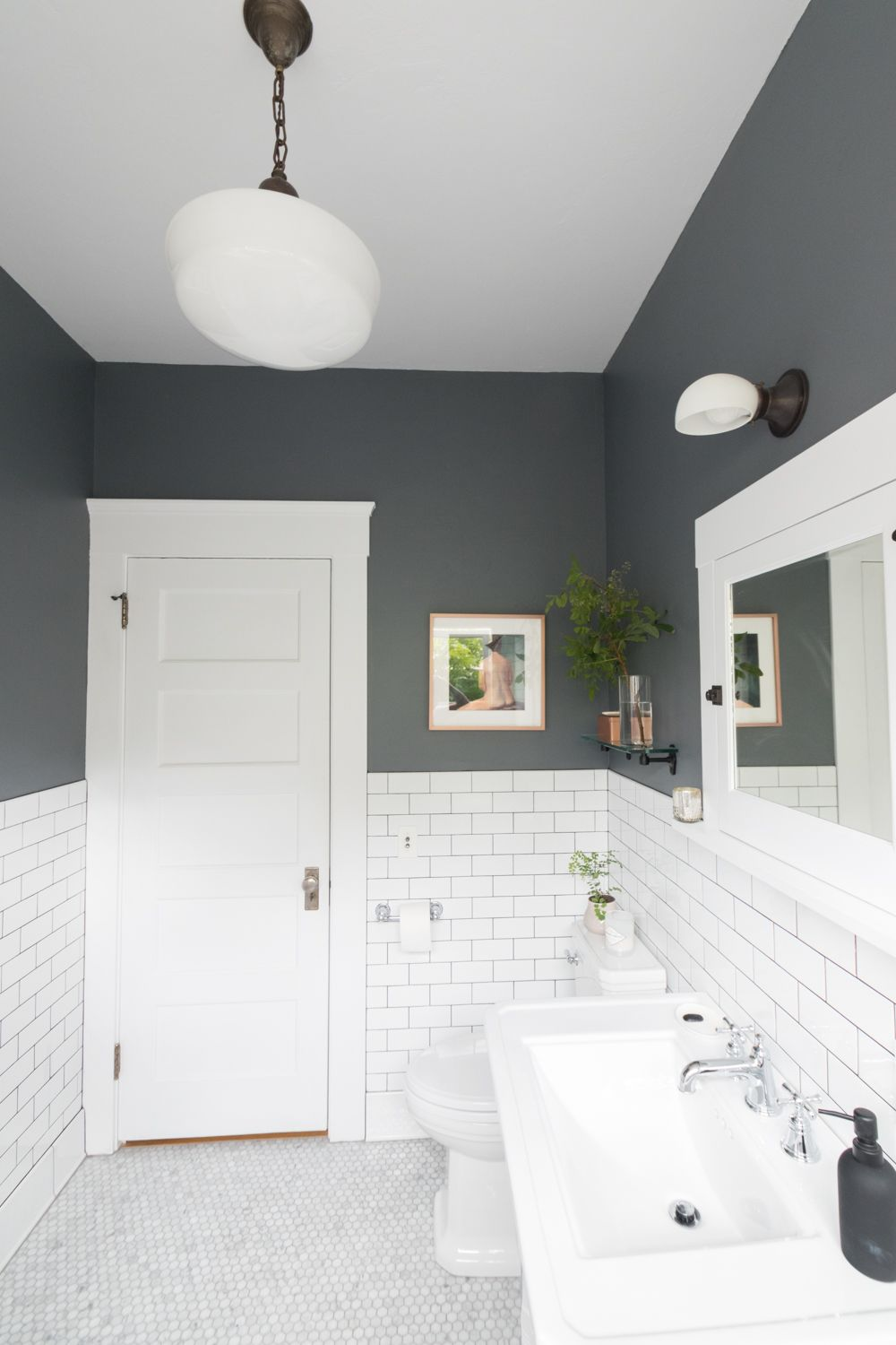 The Gold Hive Bathroom After   new home   Pinterest   Bathroom ...