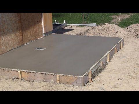 Comment faire une dalle en béton - Coulé une dalle en béton - Dalle De Beton Exterieur