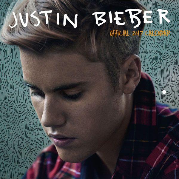 Calendario Justin Bieber, 2017. 30,5 cm  Calendario para el 2017 con varias imágenes del cantante Justin Bieber.