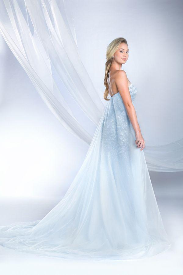 Elsa Inspired Wedding Dress - 2015 Disney\'s Fairy Tale Weddings by ...