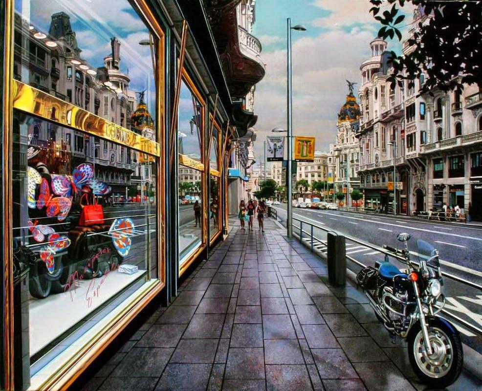 Painting by Modesto Trigo. Paisajes Urbanos de Madrid | Arte ...