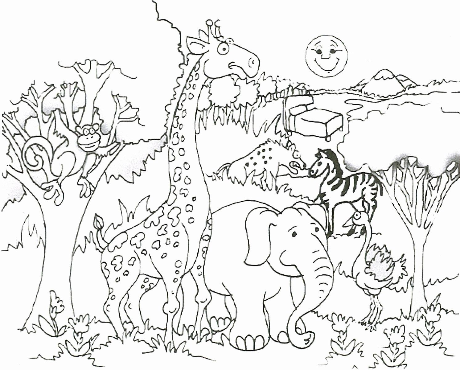 Printables Zoo Animals Awesome Zoo Coloring Pages For Adults Best Ideas For Printable An Zoo Animal Coloring Pages Giraffe Coloring Pages Animal Coloring Books