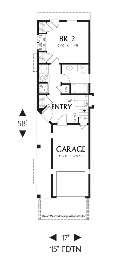 Contemporary Craftsman Plan Perfect For Narrow Lot Plan 21107 The Skycole Is A 1203 Sqft Coastal Conte Coastal House Plans House Plans Narrow Lot House Plans