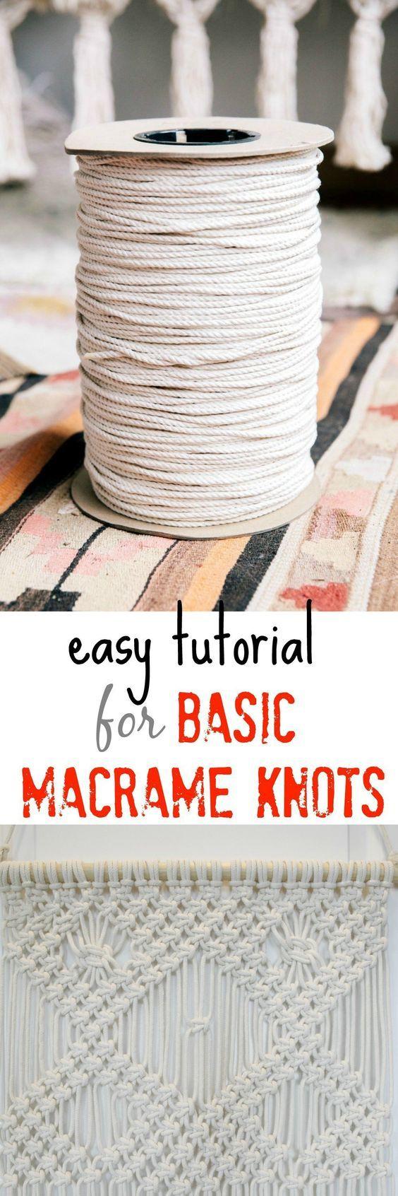 easy tutorial for basic macrame knots | Macrame | Pinterest ...