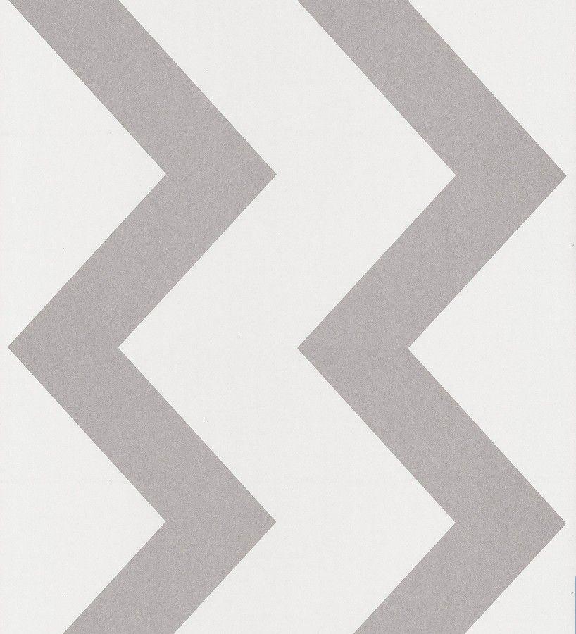 Papel pintado para pared rayas verticales en zigzag gris claro ...