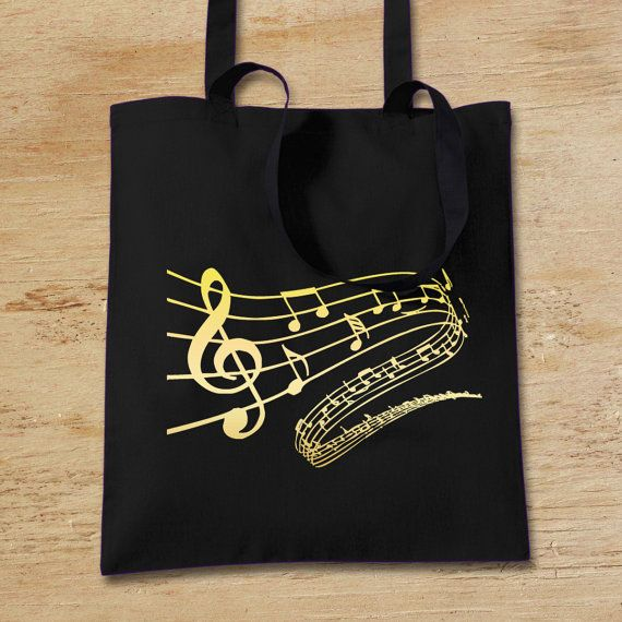Music Note Handle Gift Bag